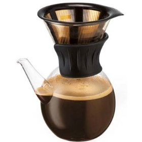 Gravity Drip Coffee Maker : Bodum Kona Drip Coffee Maker with Gold Tone Filter
