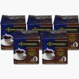 braun 01321-5 pack tassimo siganture blend regular decaf coffee pods