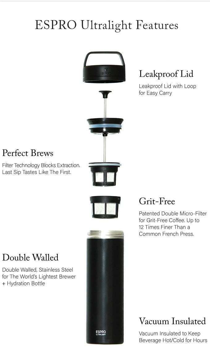 Espro Ultralight World Lightest 16 Oz Coffee Press