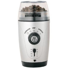 Hamilton Beach 80365 Custom Grind Hands-Free Coffee Grinder