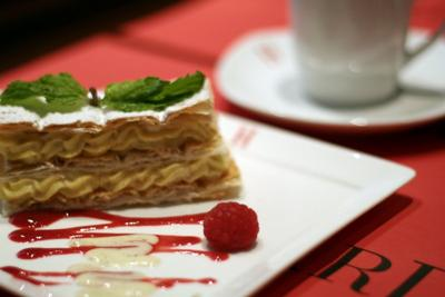 Coffee with Mille-Feuille (Hediard Singapore Cafe)