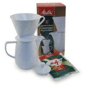melitta porcelain manual coffee maker