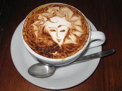 Beautiful coffee lady