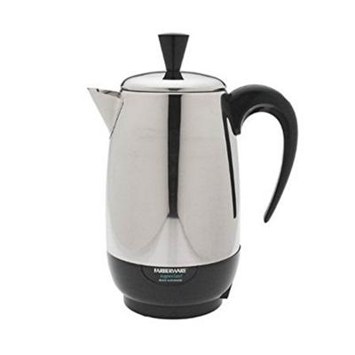 I was surprised to see customer using percolator as office coffee makers!