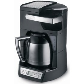delonghi dcf210ttc complete frontal access 10-cup drip coffeemaker with thermal carafe
