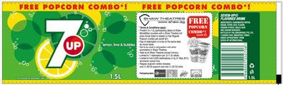 FREE Popcorn set (worth $7.00) from Shaw Theatres-7Up Label
