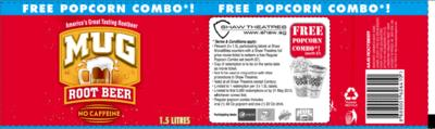 FREE Popcorn set (worth $7.00) from Shaw Theatres-Mug Rootbeer Label