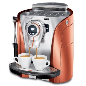 saeco super automatic odea giro orange espresso machine