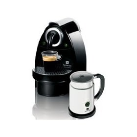nespresso C100-US-AERO-B Essenza Automatic Single-Serve Espresso Machine with Nespresso Aeroccino Milk Frother, Black