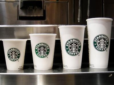 Starbuck Trenta size (image source: daily Tribute)