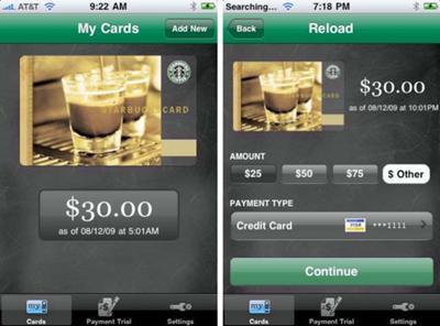 Starbucks Mobile apps