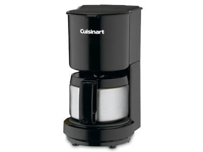 Black Coffee Maker with Stainless Steel Carafe