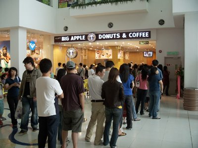 Queuing up for coffee -coffee is big business