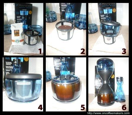 hourglass-coffee-maker-steps