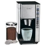 Cuisinart SS-1 Cup-O-Matic Single Serve Coffeemaker, Black and Brushed Chrome