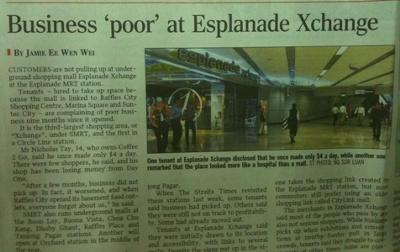 Newspaper cutting citing Xchange poor business