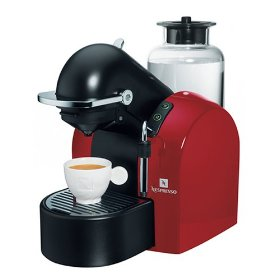 nespresso d290R concept automatic espresso machine, red and black