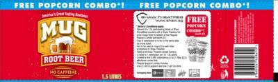 FREE Popcorn set (worth $7.00) from Shaw Theatres-Mug Rootbeer Label