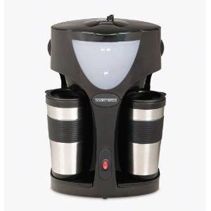 toastess tfc42t silhouette 800w twin coffee maker