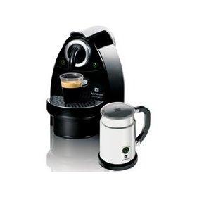 nespresso C100-US-AERO-B Essenza Automatic Single-Serve Espresso Machine with Nespresso Aeroccino Milk Frother, Black